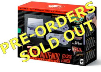 SNES Classic PreOrder Sold Out